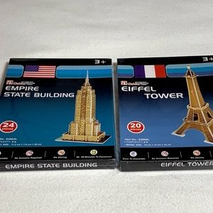 Cubin Fun 3D Puzzle Empire State & Eiffel Tower